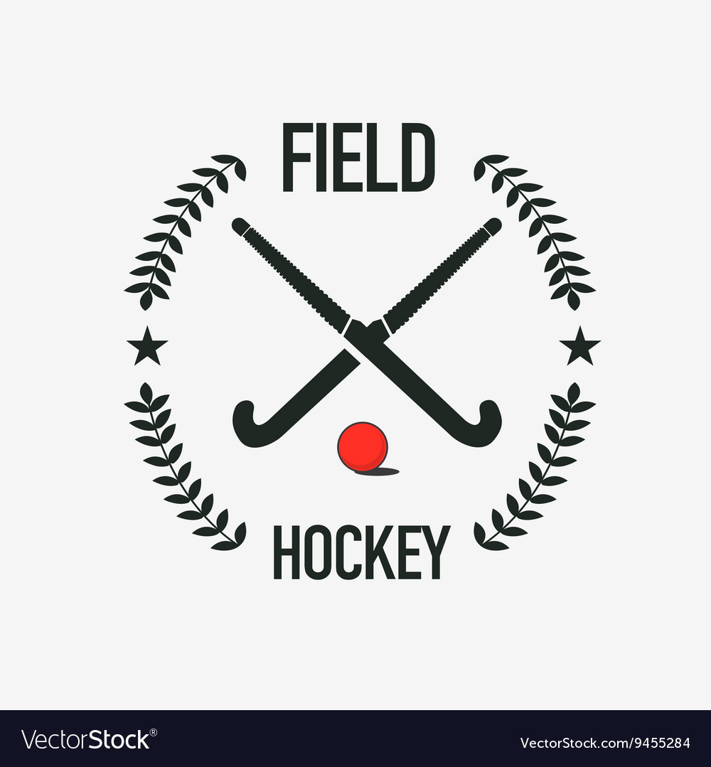 Field Hockey Team Logo Sport Club Badge Royalty Free Vector
