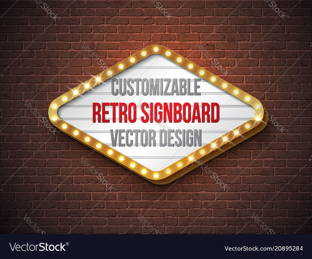 Retro signboard or lightbox