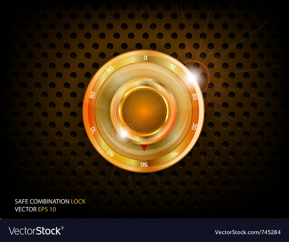 Safe gold combination vector image