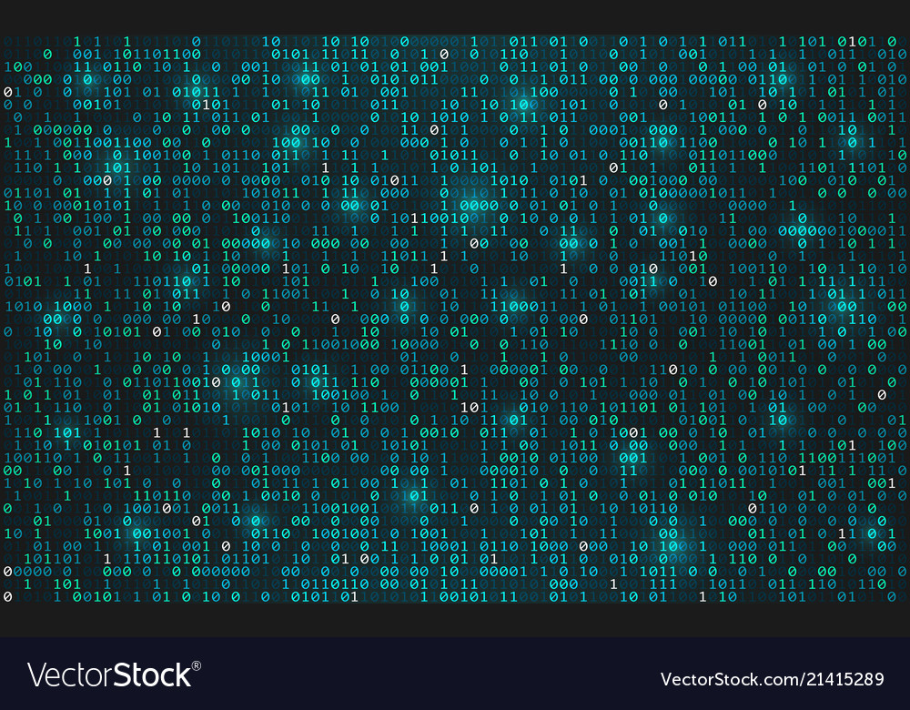 Abstract binary code background digital data