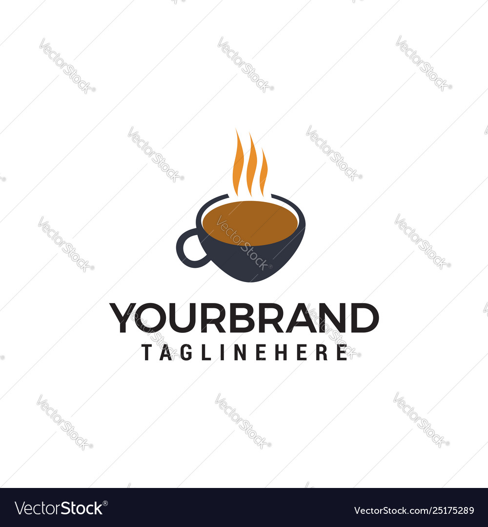 Coffee cup logo design concept template