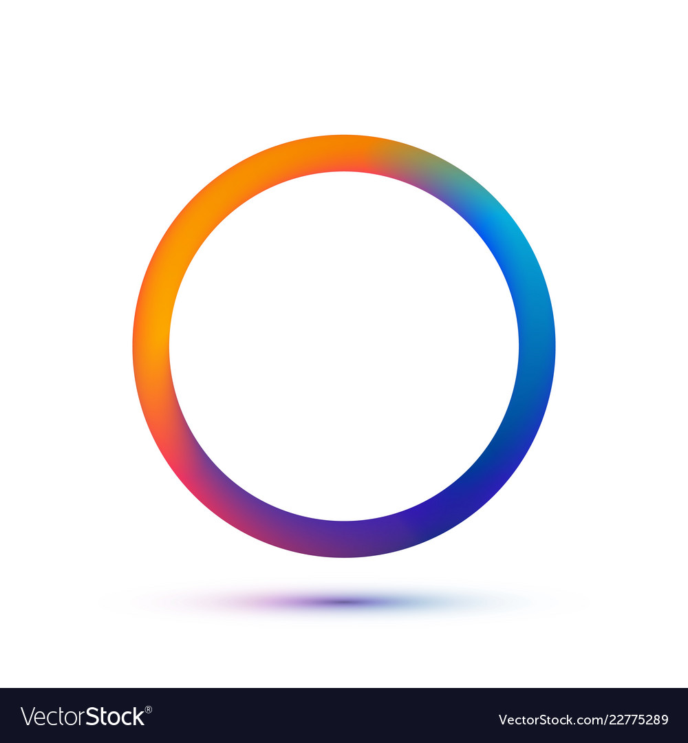 Colorful circle logo template abstract