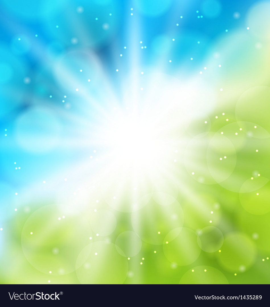 cute nature background with lens flare royalty free vector