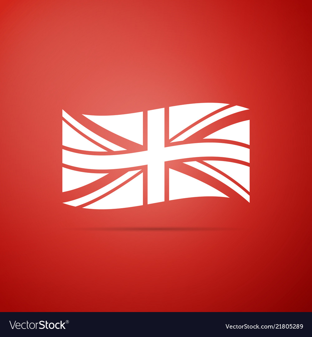 Flag of great britain icon isolated uk flag sign