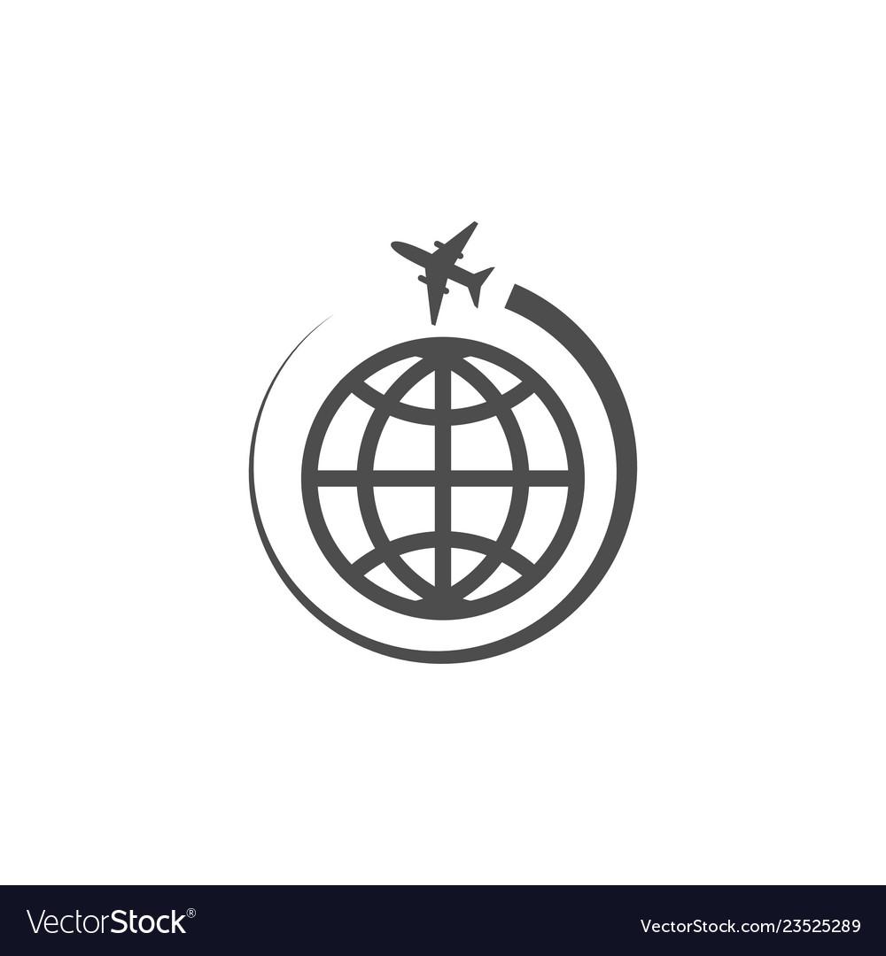 Globe world icon graphic design template