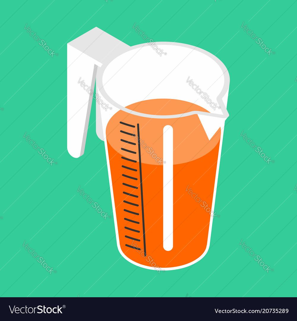Jug with orange juice isolated isometric orange vector image