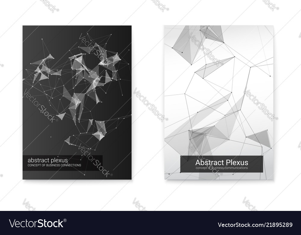 Set of geometric poster of