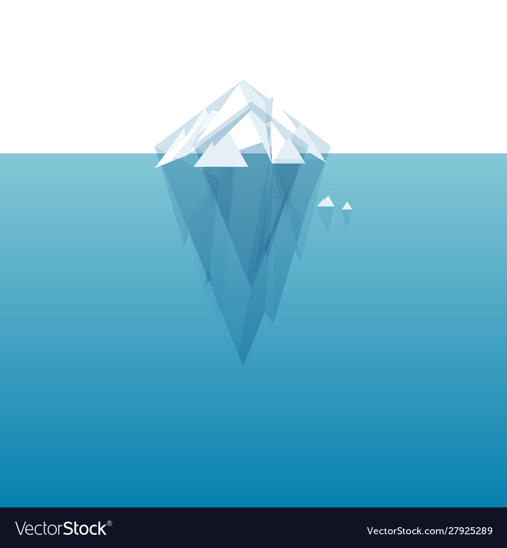 white tip ice mountain royalty free vector image vectorstock