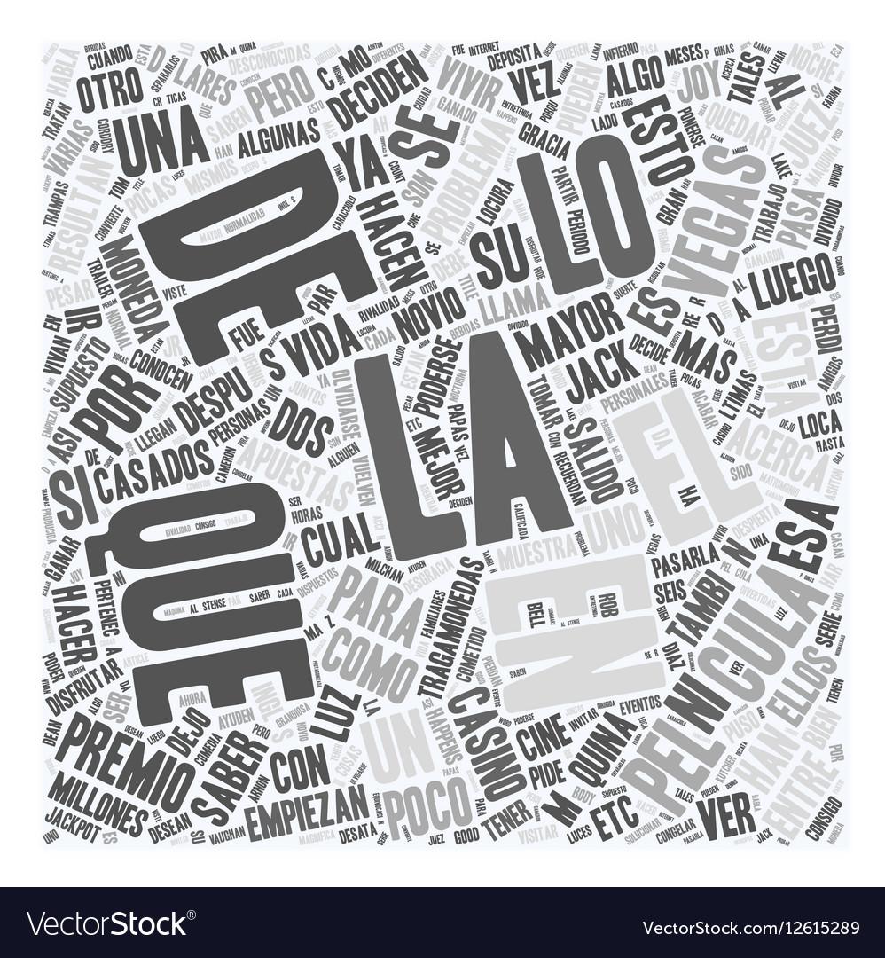 Ya viste la pelicula Algo pasa en Las vegas text vector image