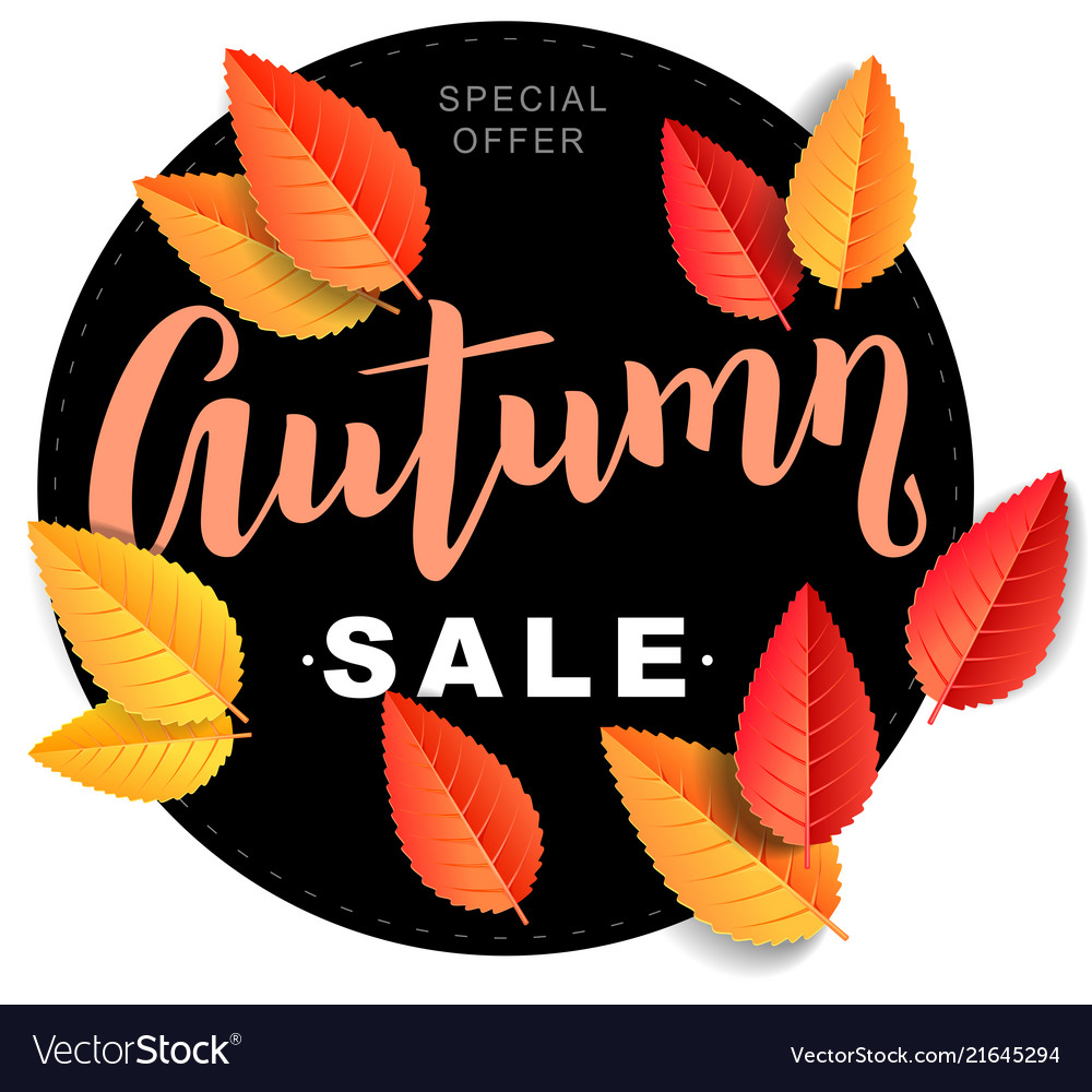 Autumn sale composition
