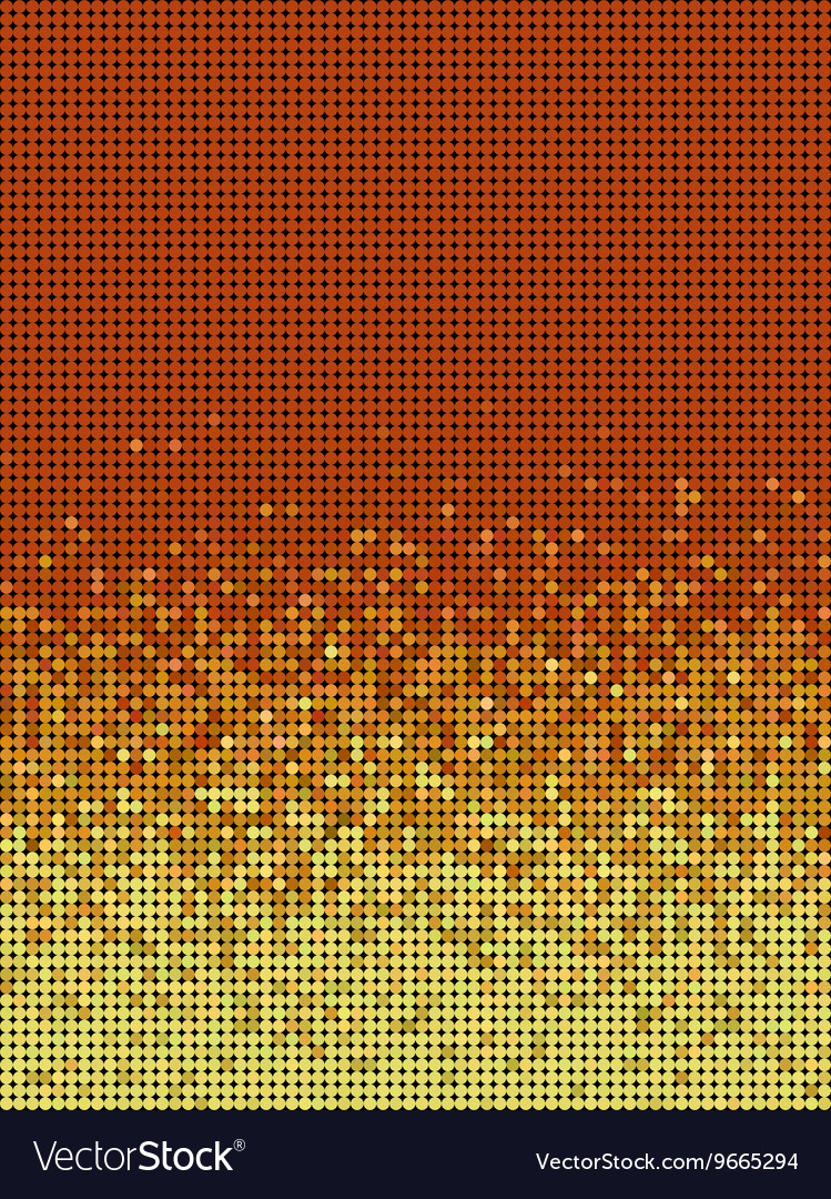 Bubble gradient pattern in orange and yellow