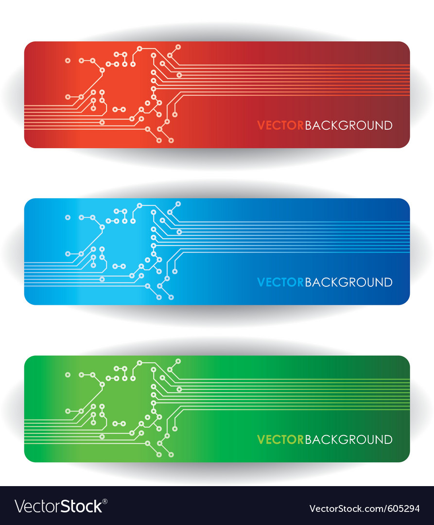 Circuit board banners vector image