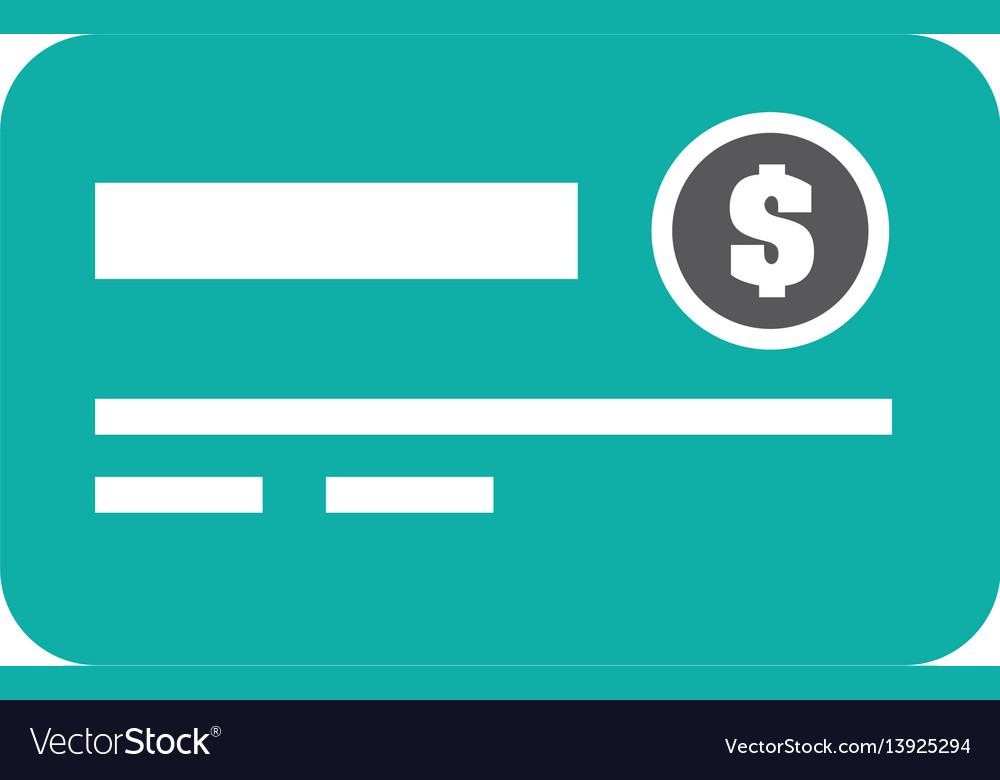 Credit card isolated icon