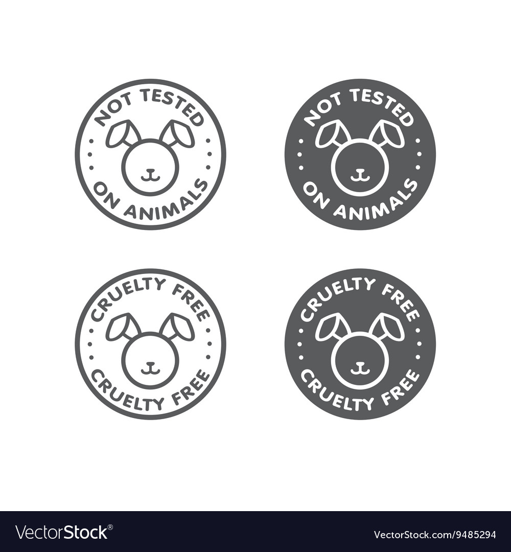 Cruelty Free Not Tested On Animal Sign Icon Symbol