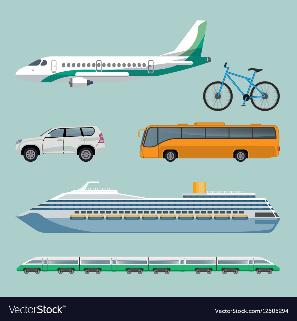 Fast transportation means set of modern transport