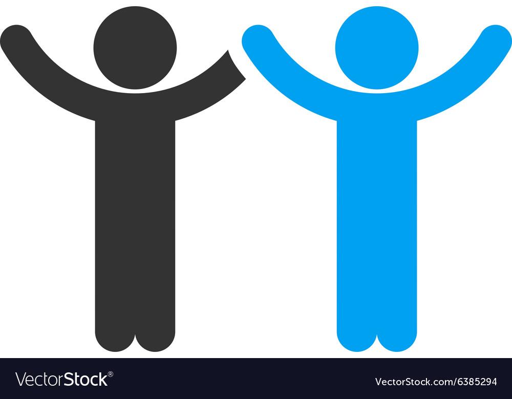 Hands Up Children Icon