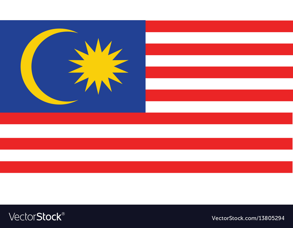 Malaysia flag for independence day and vector image
