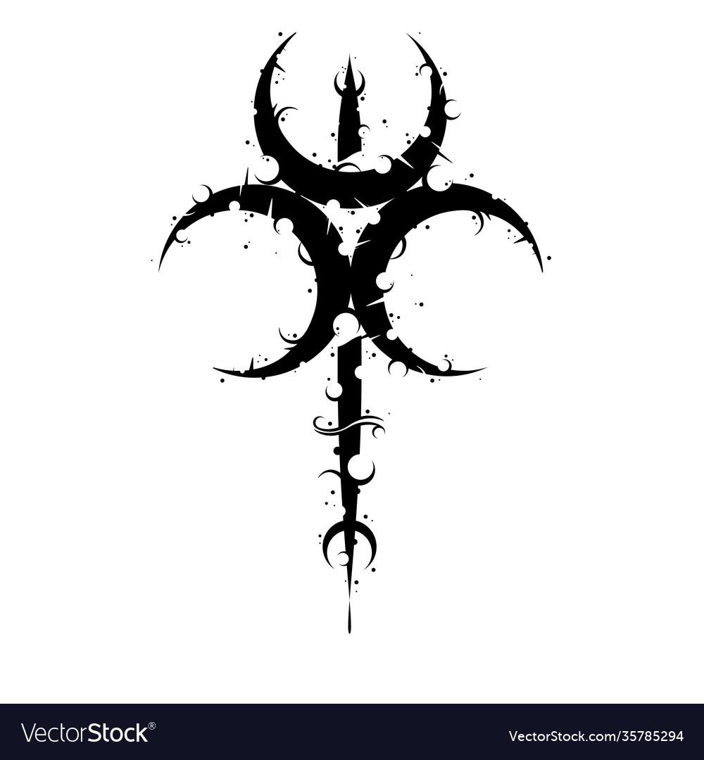 Moon trio symbol background