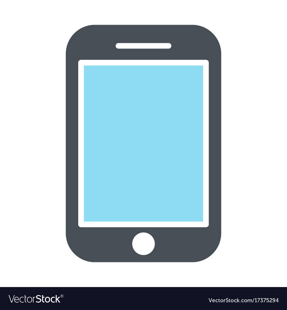 Phone Icon Silhouette Symbol Royalty Free Vector Image