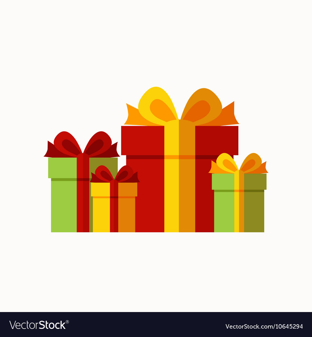 Presents background concept vector image