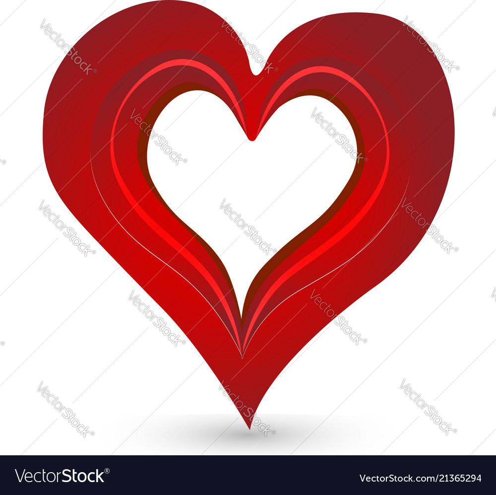 red compassion shape heart icon royalty free vector image rh vectorstock com heart icon vector download heart icon vector illustrator