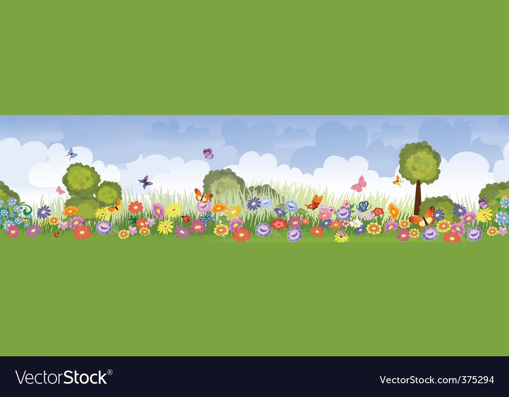 Seamless flower fields