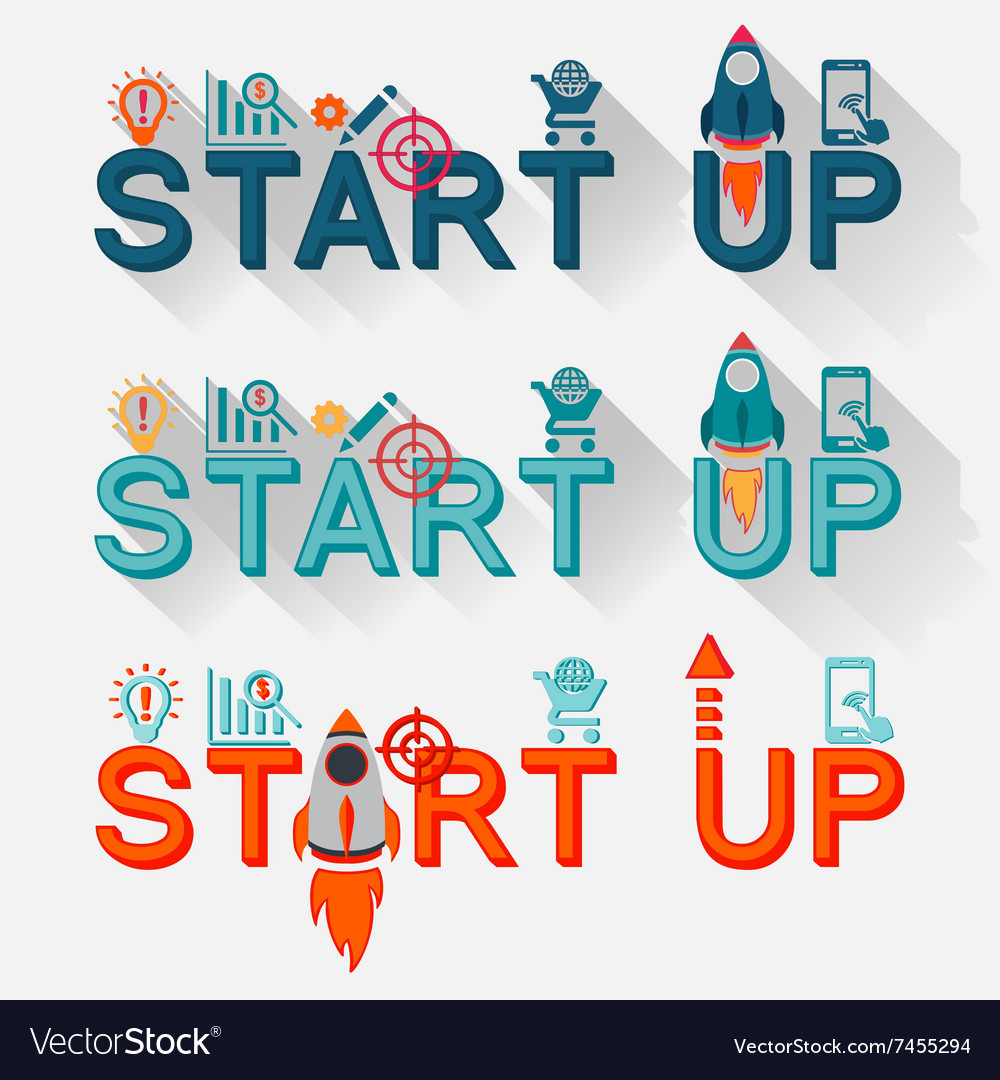Start up new business project vector image