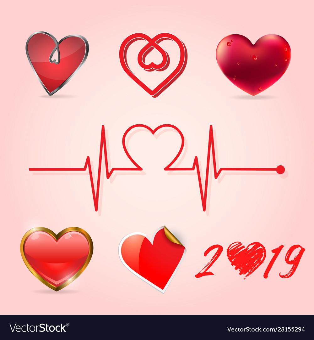 Valentine heart collection