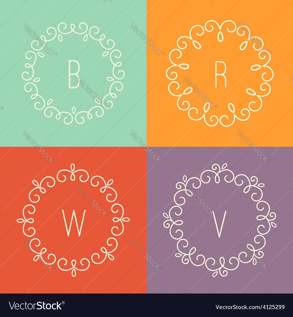 Abstract linear designs for logo templates