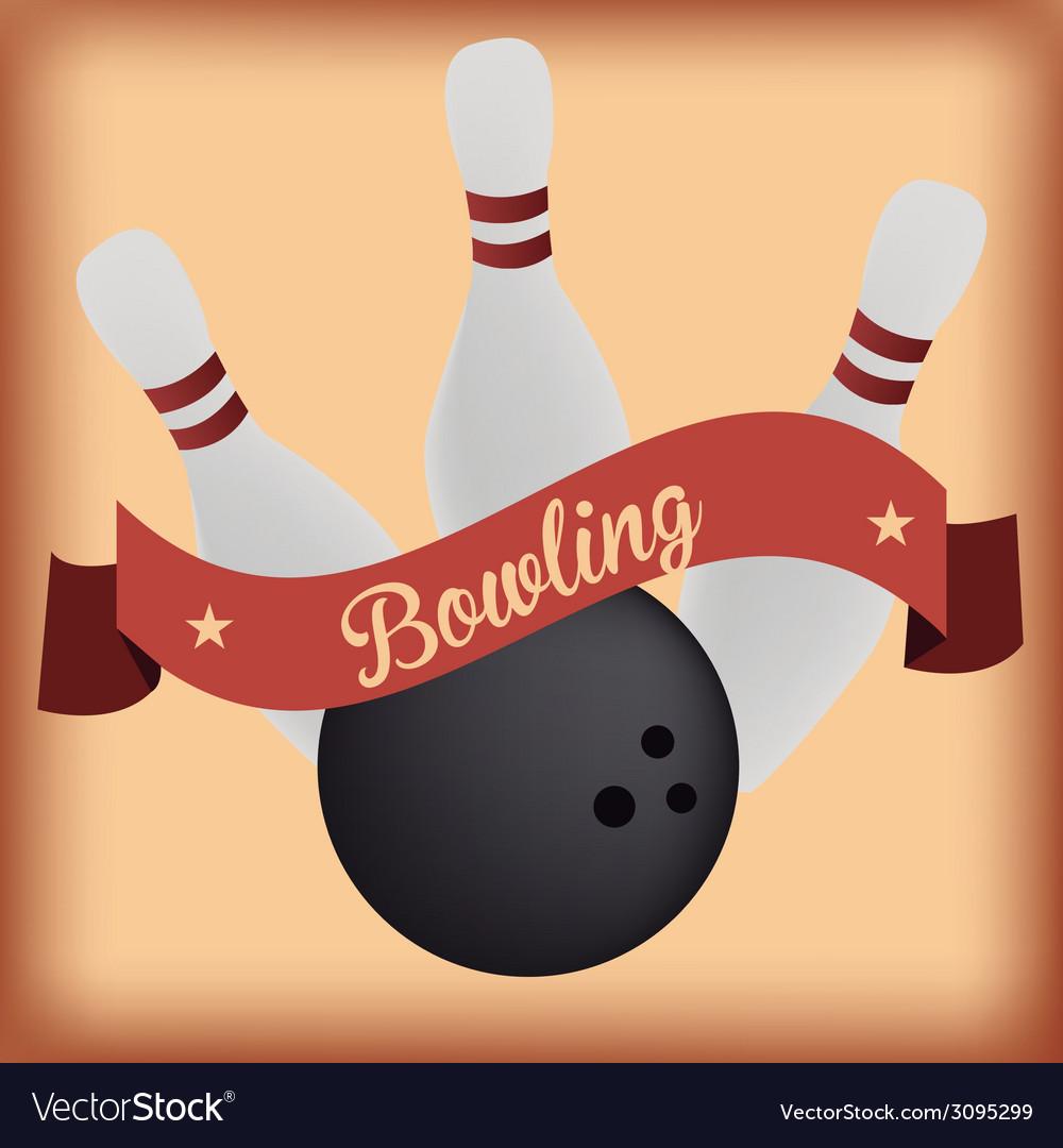 Bowling Royalty Free Vector Image