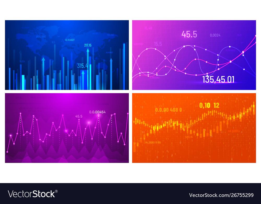 Business growth chart financial trend screen