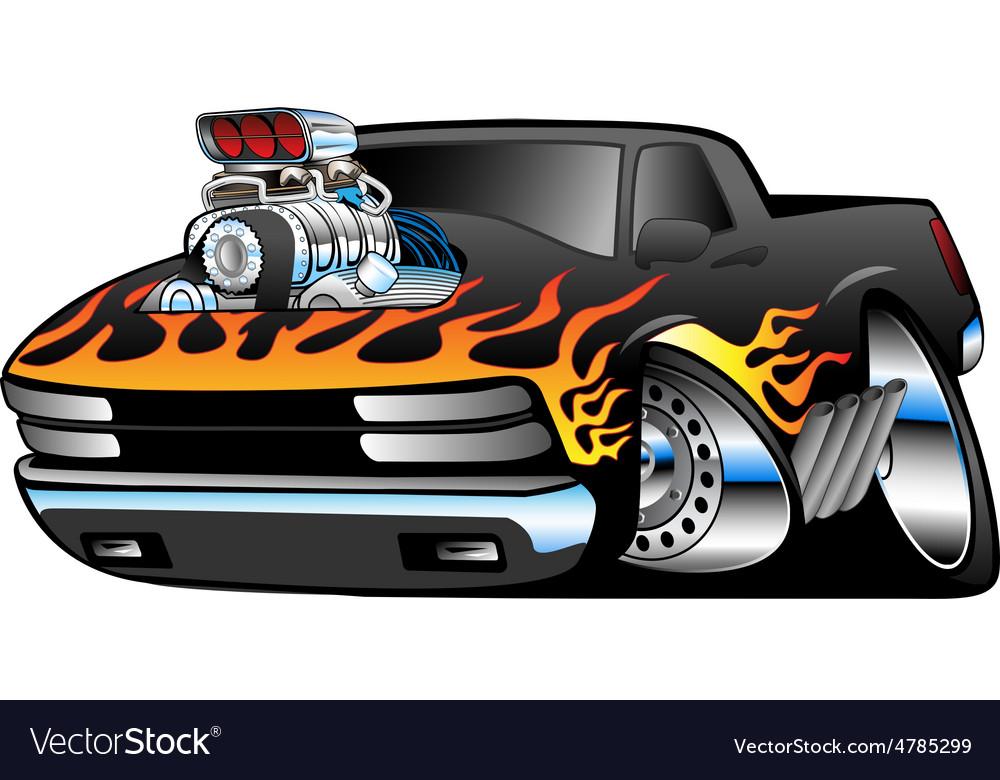 Hot Rod Pickup Truck Royalty Free Vector Image