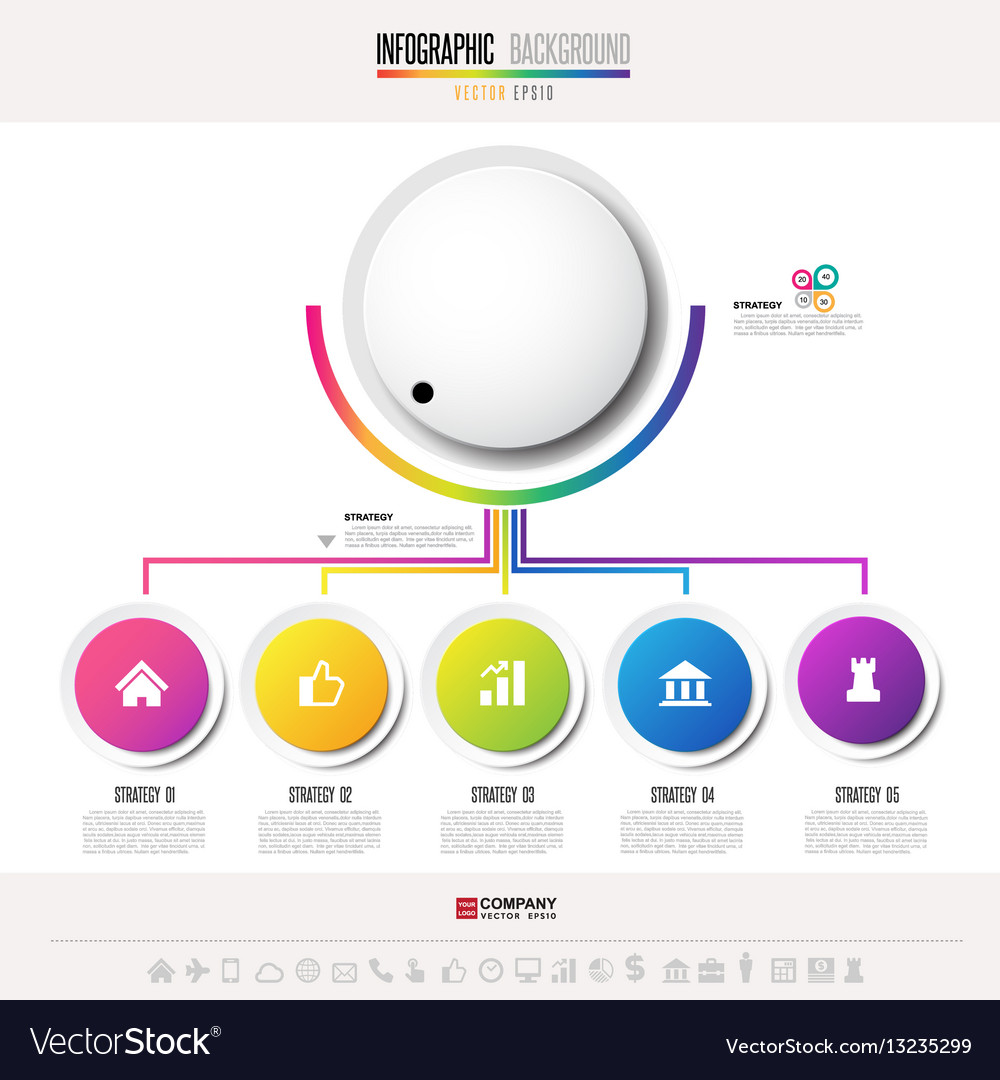 Infographics design template with icons set