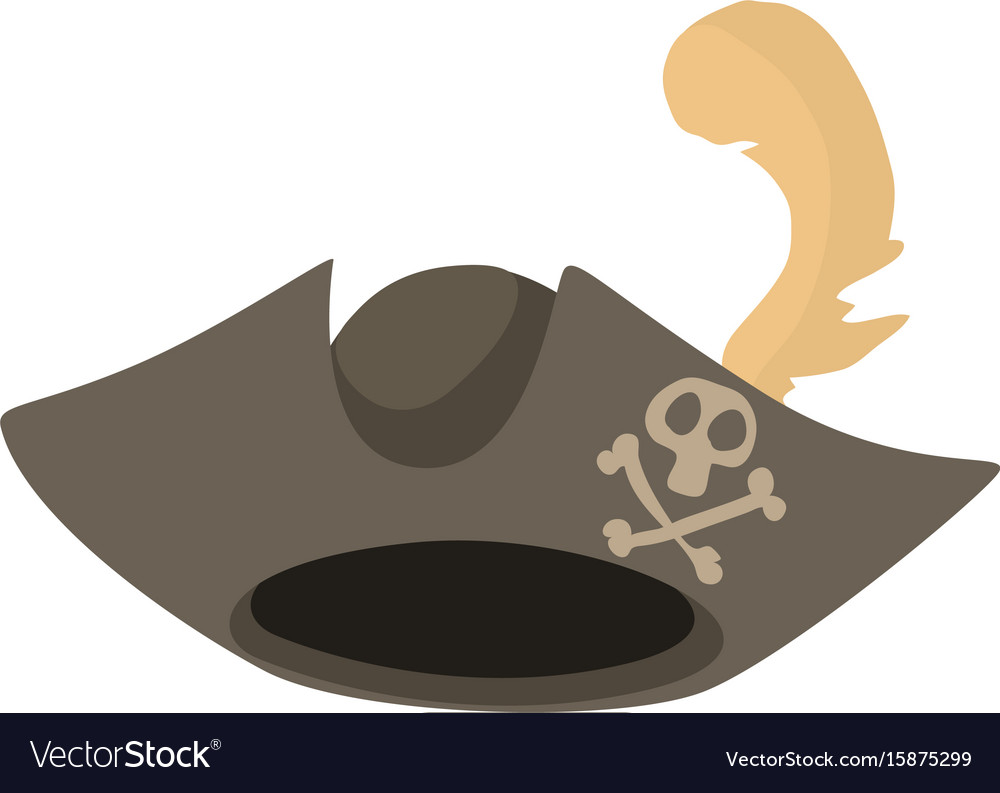pirate hat icon cartoon style royalty free vector image rh vectorstock com cartoon pirate images cartoon pirate turtle