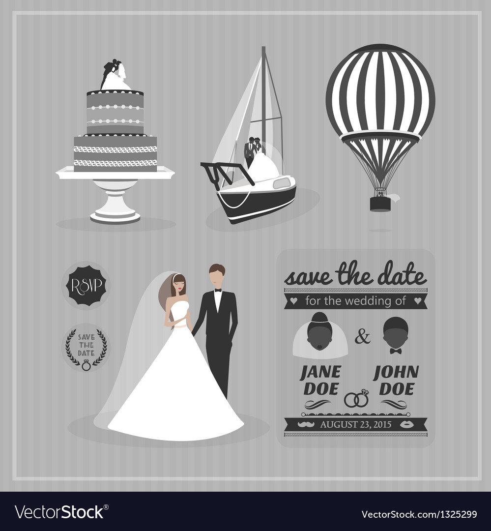 Set wedding design elements