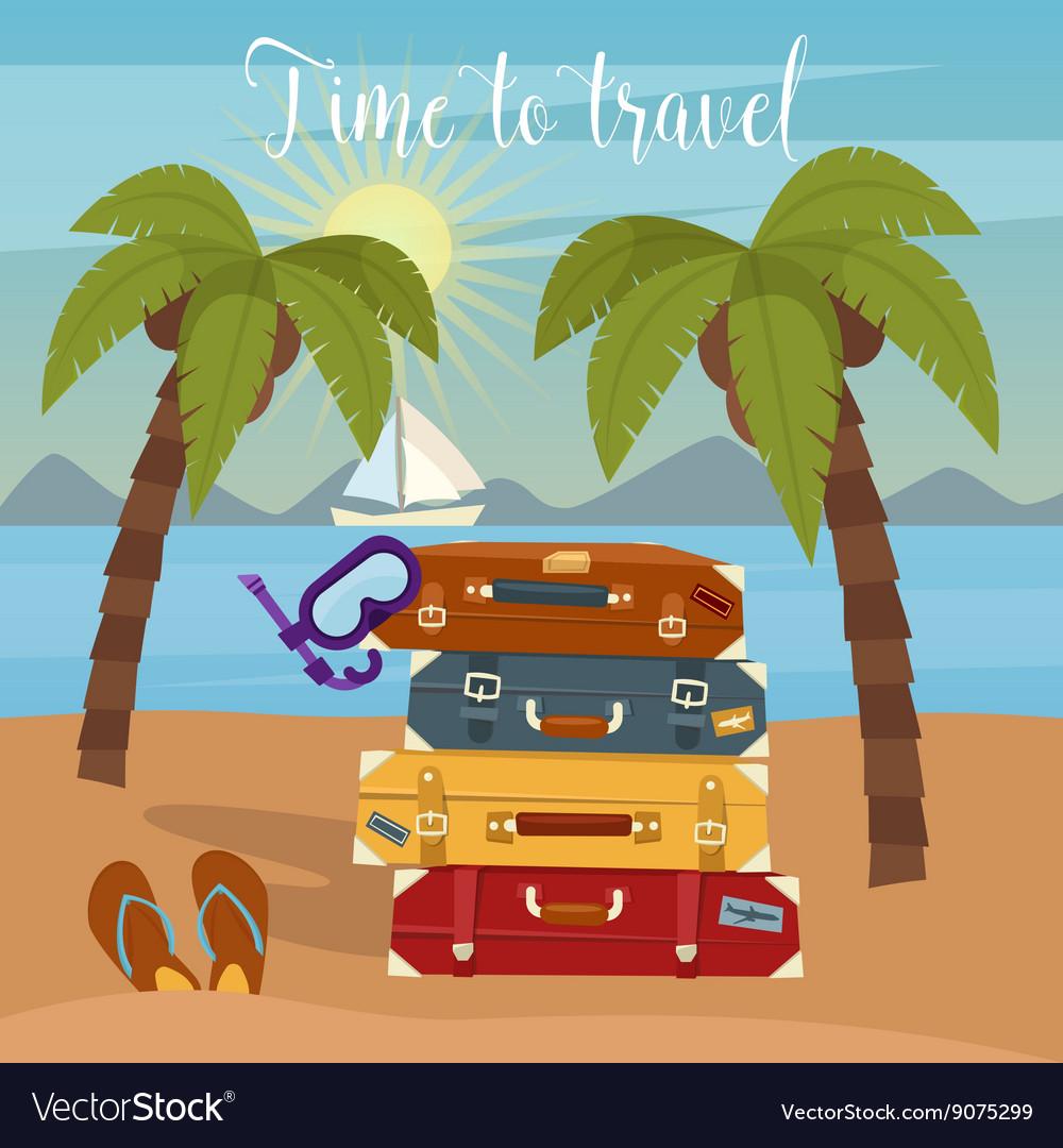 Tropical Vacation Travel Baggage Beach Vacation