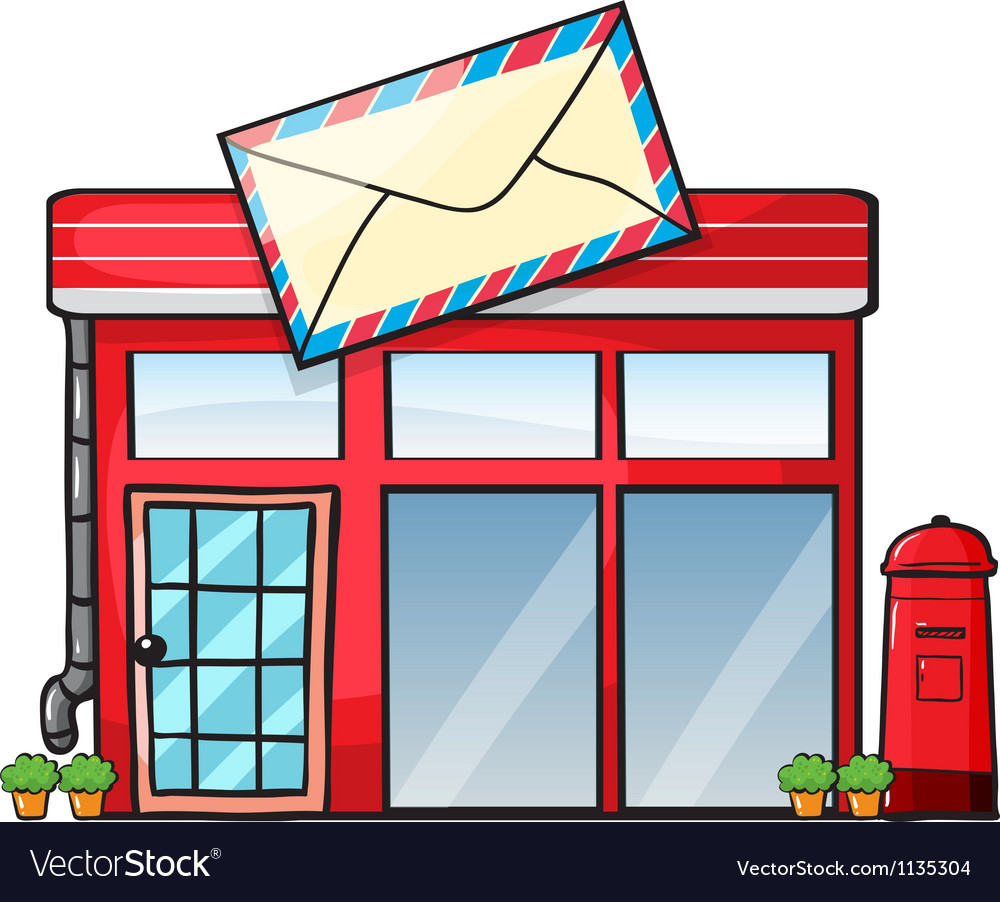 A Post Office Royalty Free Vector Image