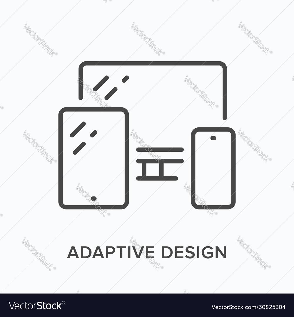 Adaptive design line icon outline
