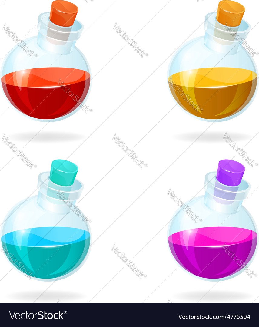 Bottles potion icons for games