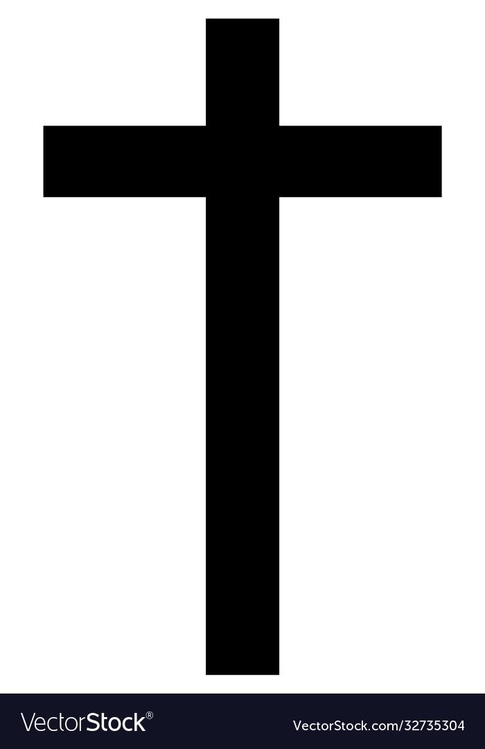 Drawn cross icon religion christianity