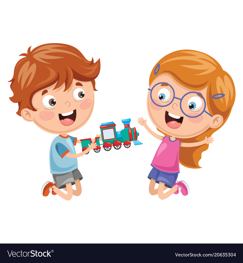 Kids playing with toy