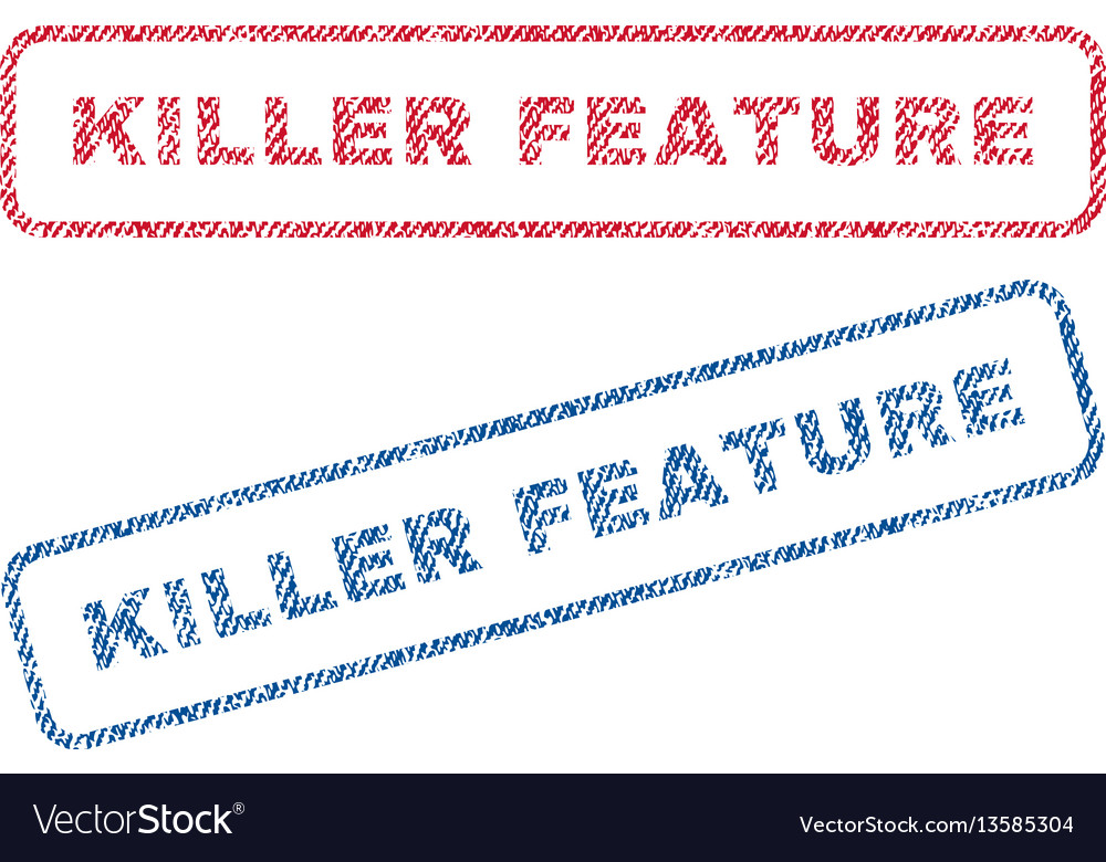 Killer feature textile stamps vector image
