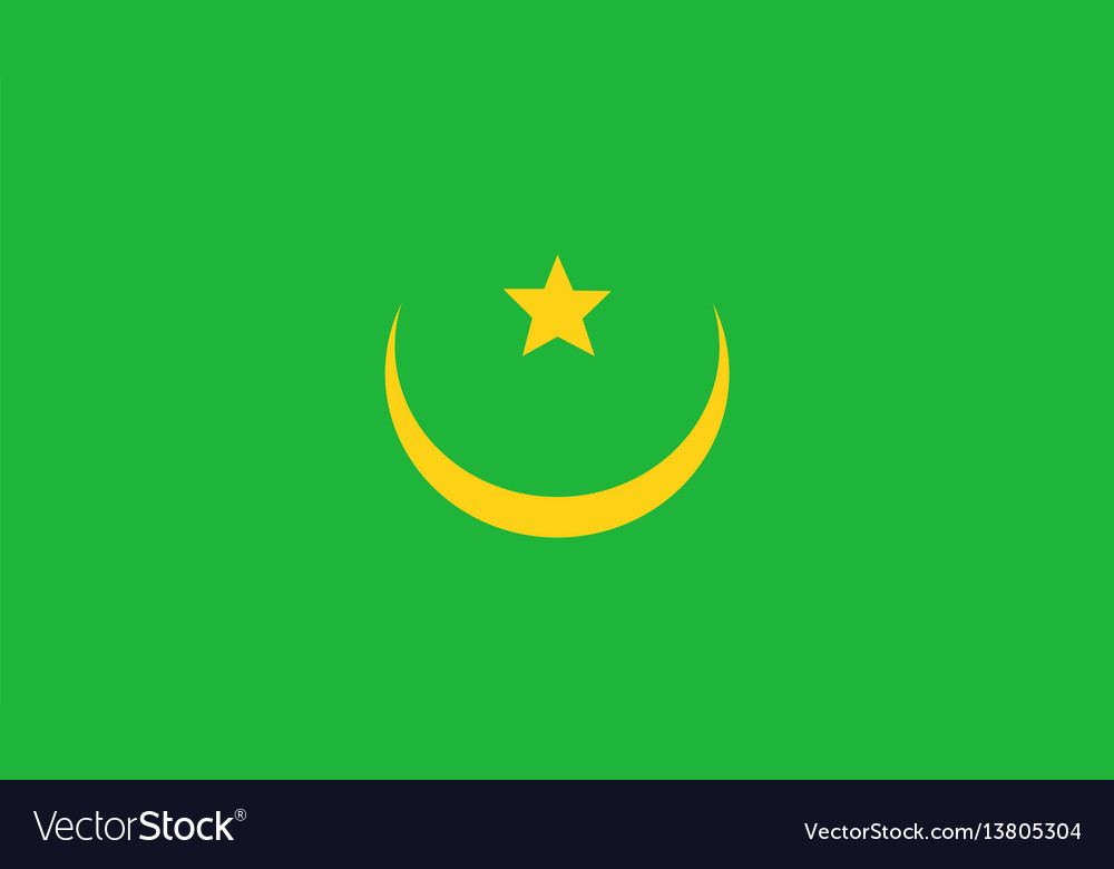 Mauritania flag for independence day and vector image