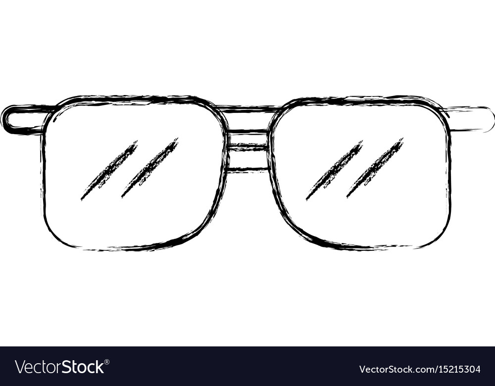 a0f6a79736d3 Sketch draw sunglasses cartoon Royalty Free Vector Image
