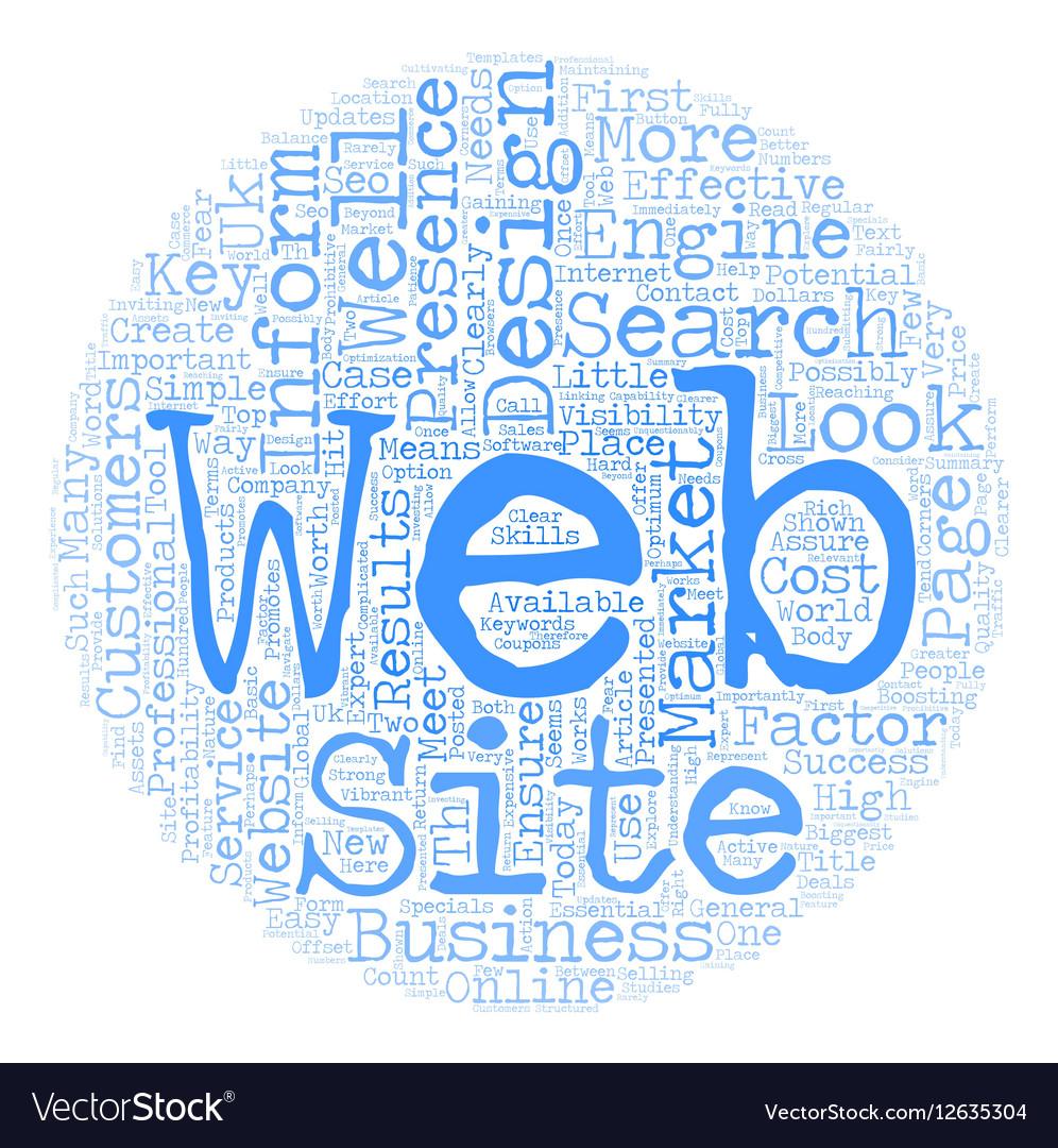 Web Design UK text background wordcloud concept