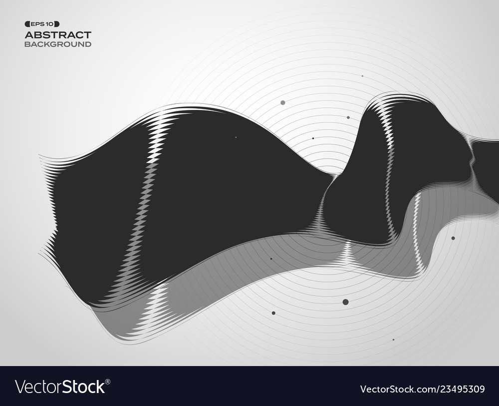 Abstract of black and white technology cover