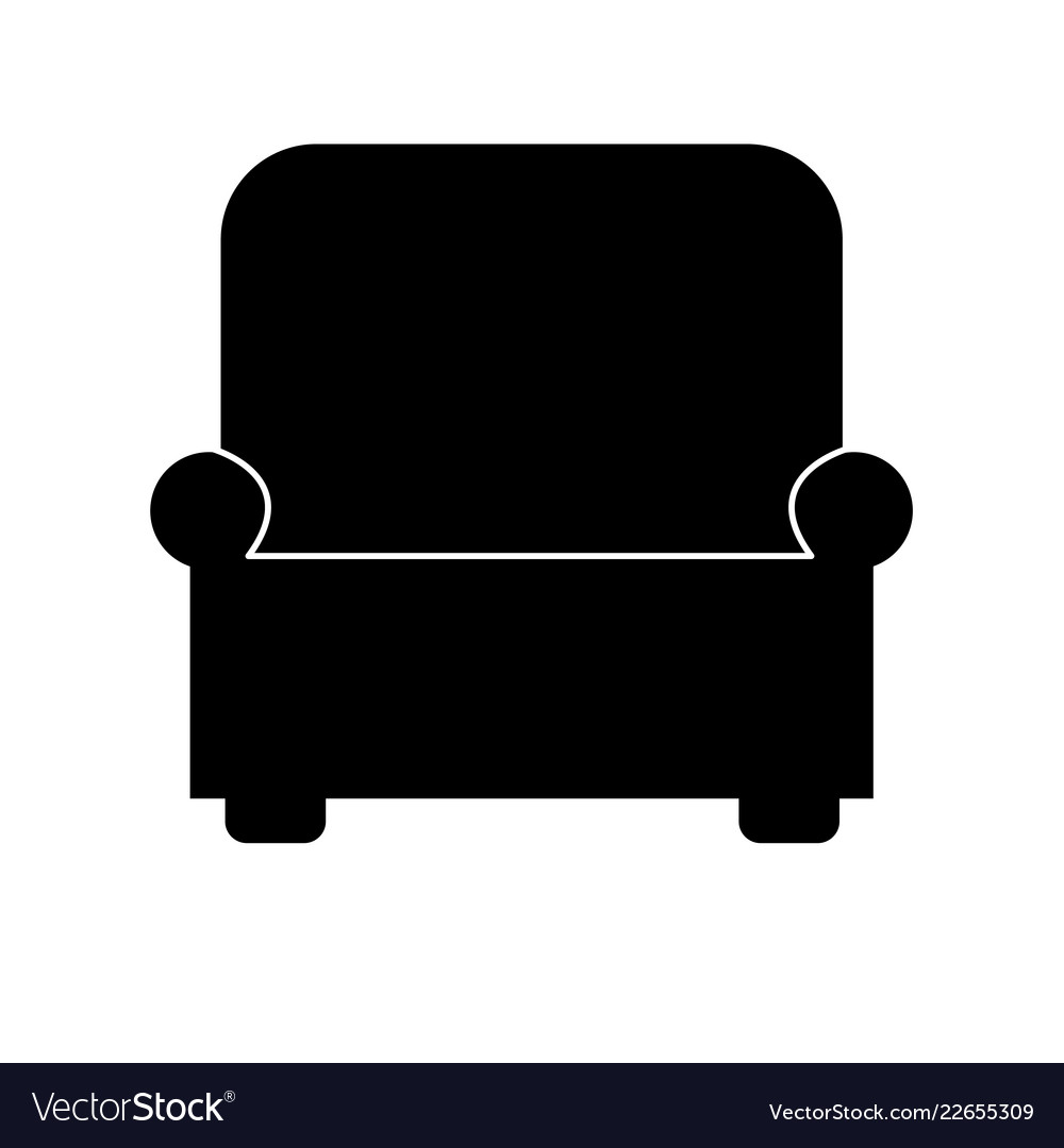Armchair icon on white background flat style