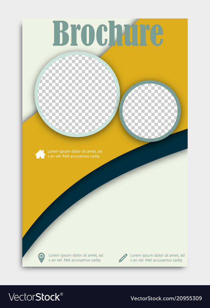 Blank flying cover of magazine book booklet