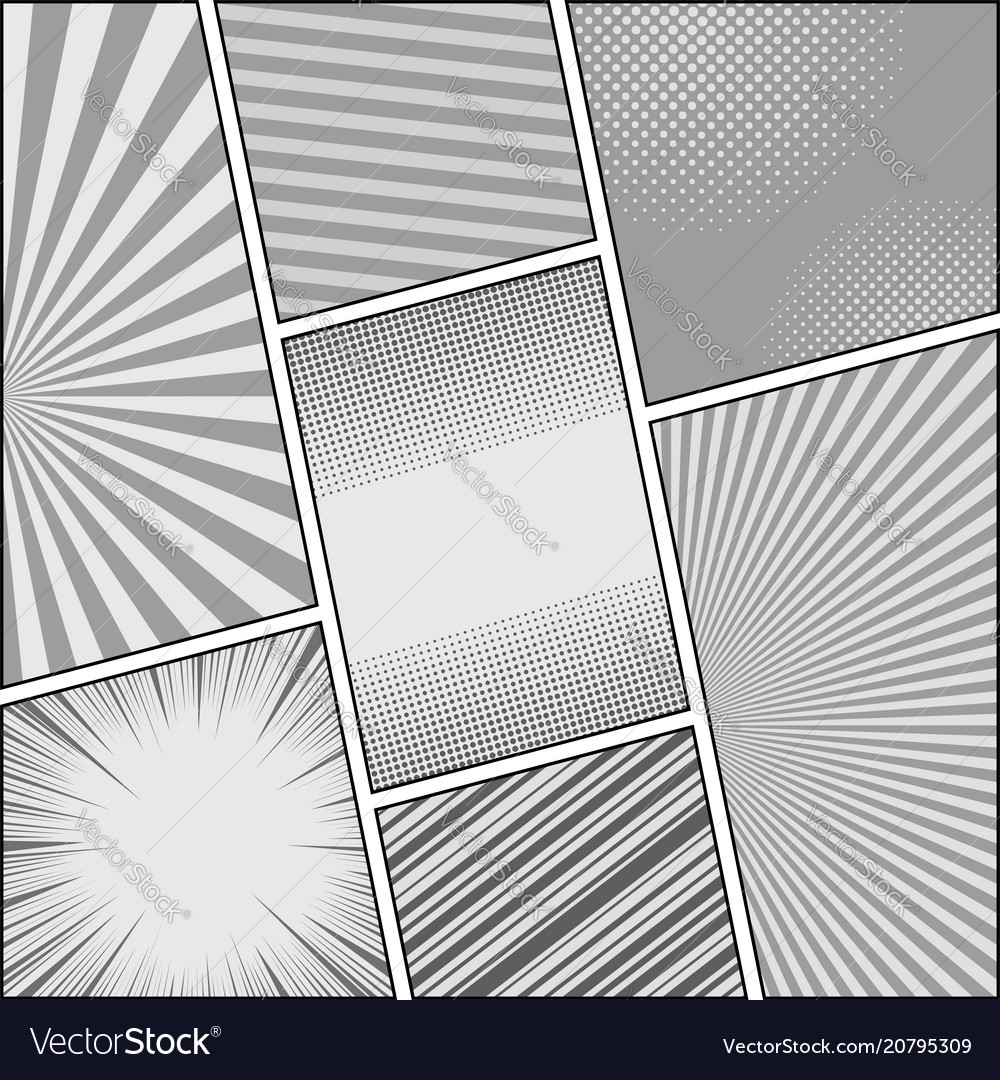 Comic book gray background