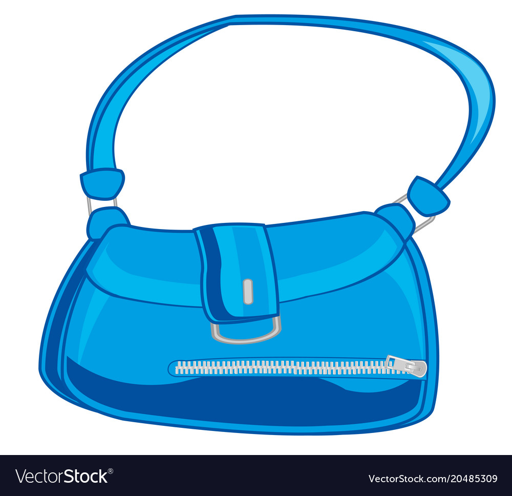 Feminine bag blue Royalty Free Vector Image - VectorStock 8be27bf98f